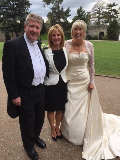 Black Tie Castle Wedding Ceremony Clothes