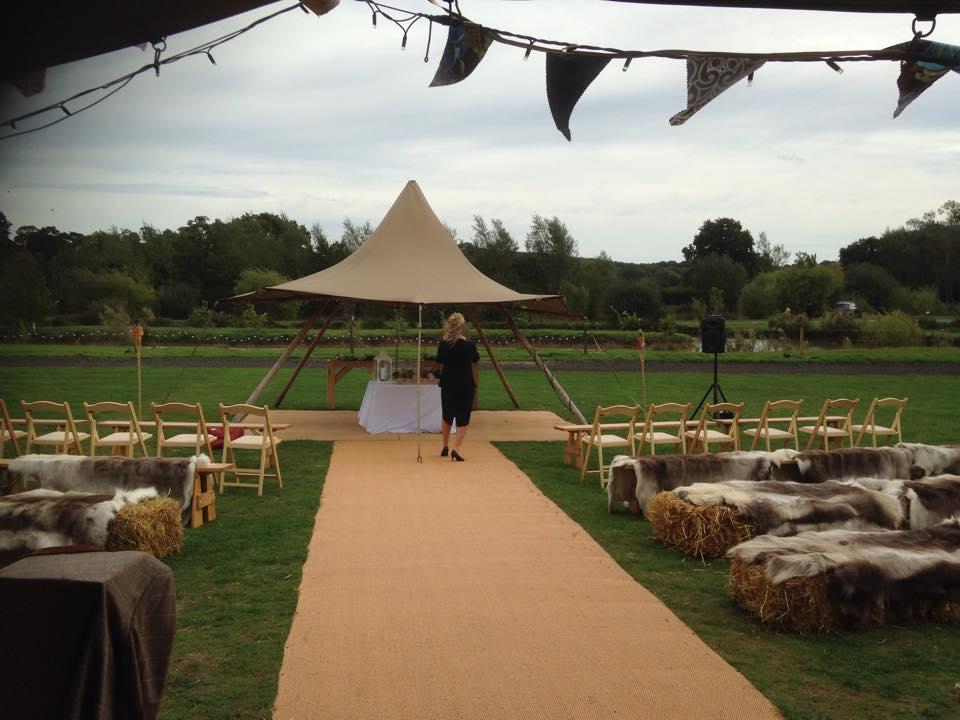 L&W Alcott Wedding Celebrant Tipi