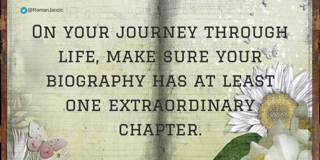 Journey through life quote