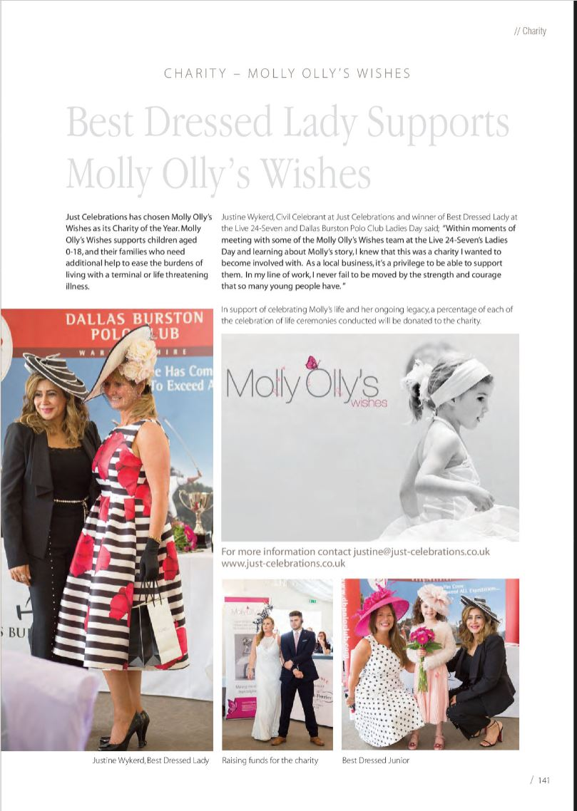 Molly Olly charity celebrant
