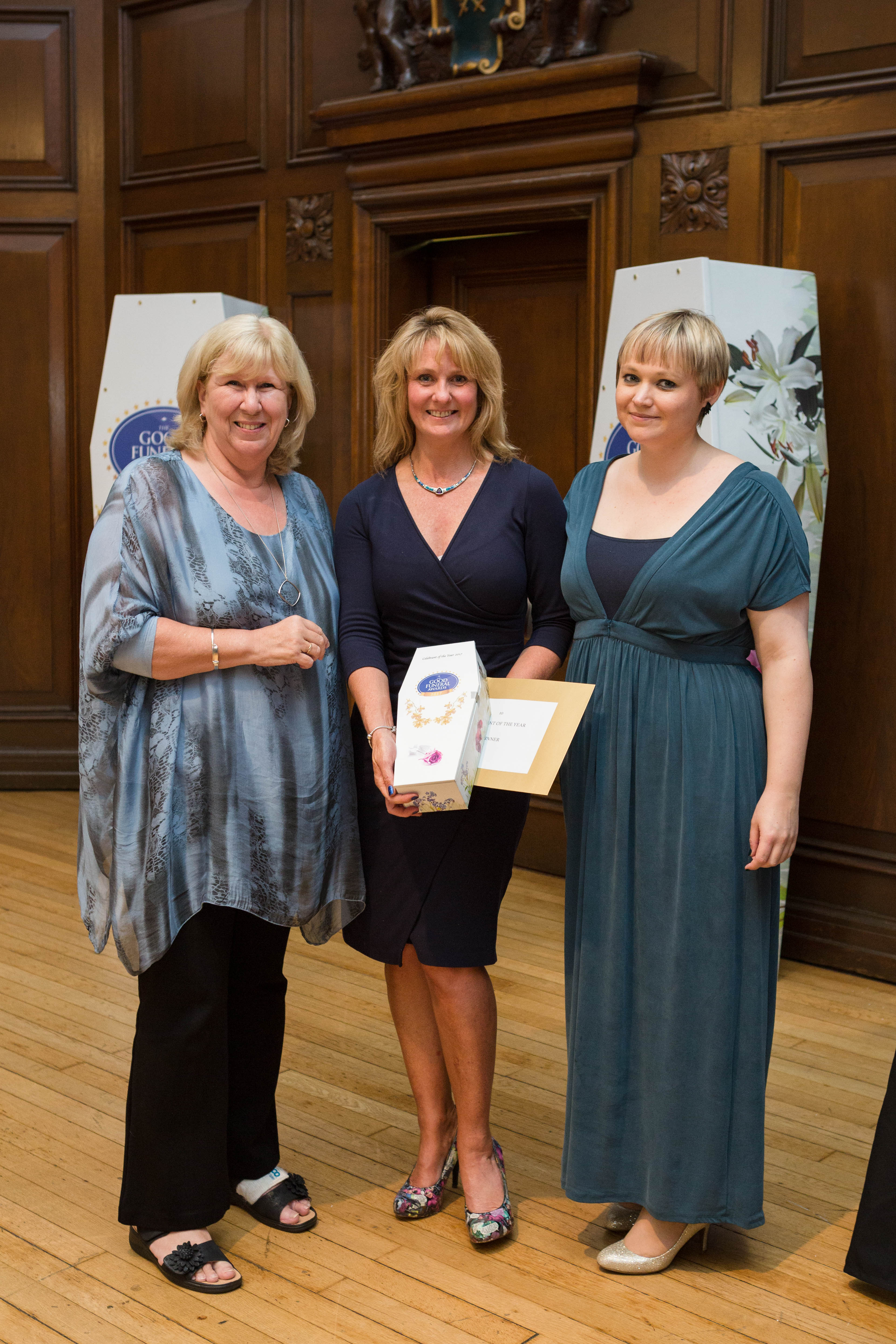 Justine Wykerd Celebrant of the Year Good Funeral Awards 2017