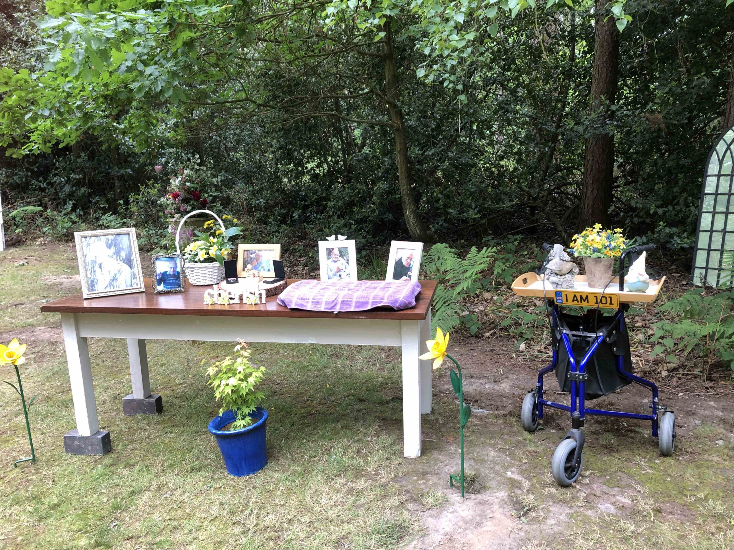 Funeral Woodland Celebration of Life Just Celebrations Justine Wykerd Celebrant