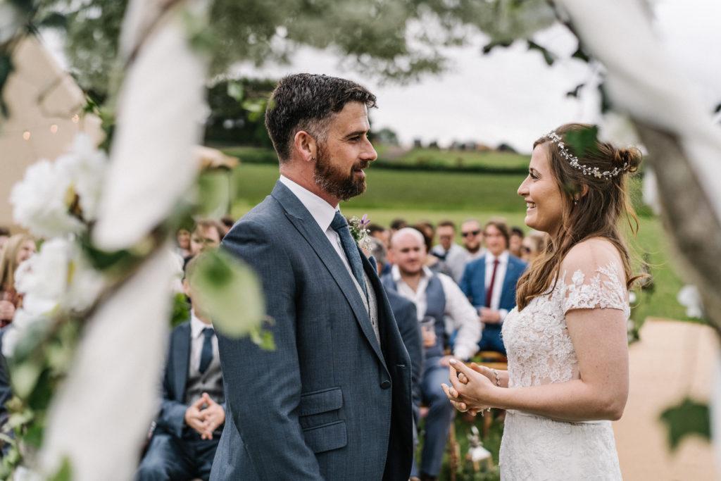 DIY tipi relaxed outdoor celebrant wedding Justine Wykerd Alcott Just Celebrations