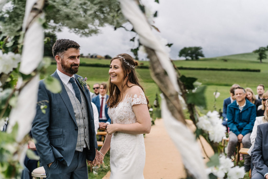 relaxed outdoor celebrant wedding Justine Wykerd Alcott Just Celebrations