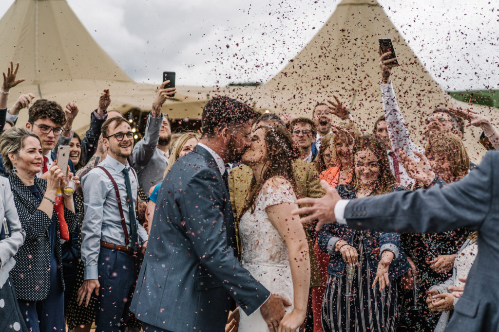 DIY tipi relaxed outdoor celebrant wedding Justine Wykerd Alcott Just Celebrations
