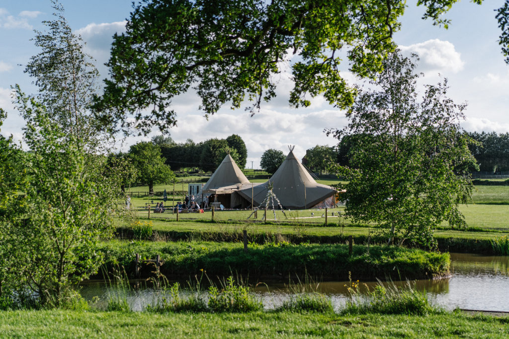 tipi relaxed outdoor celebrant wedding Justine Wykerd Alcott Just Celebrations