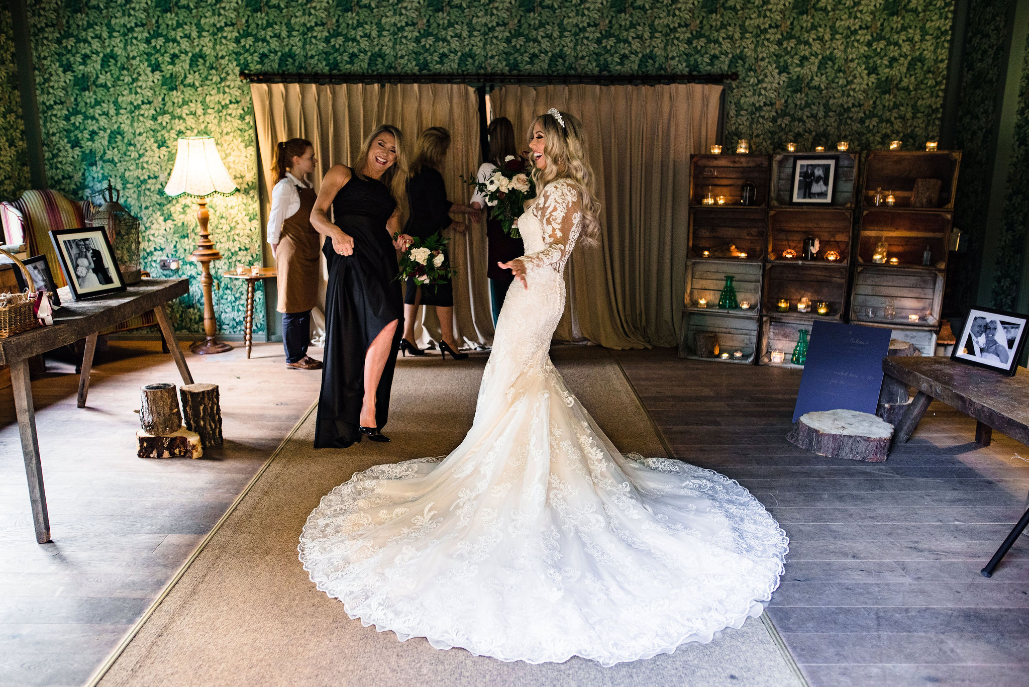 wedding dress renewal of vows celebrant Hampton Manor